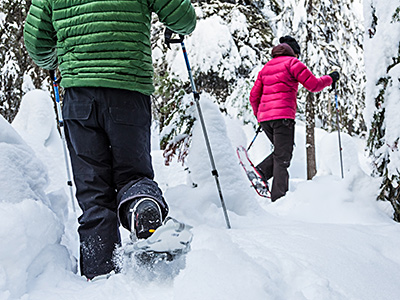 snowshoeing around bansko