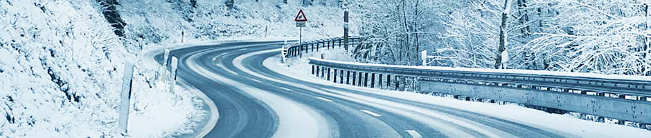 driving in winter to bansko