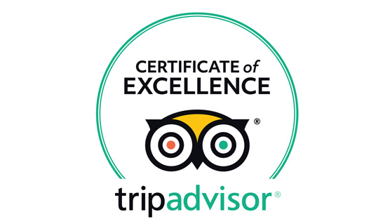 certificate of excellence by tripadvisor for traventuria